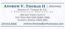 Andrew V. Thomas, II, P.C. Attorney at Law