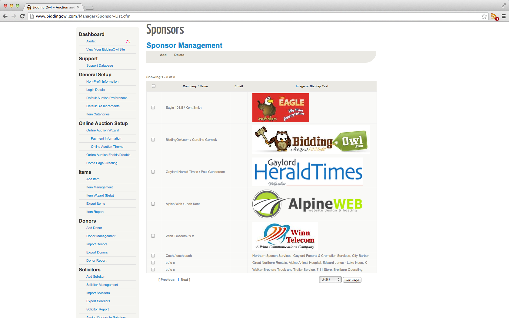 Up-sell your event through sponsorships that are displayed on your website